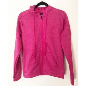 Adidas Pink Zipper Front Climawarm Small Hoodie